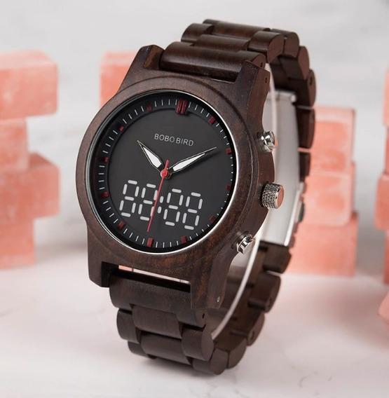 Relógio Madeira Feminino Unissex Promoção