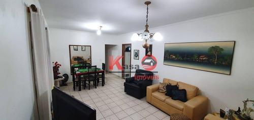Imagem 1 de 20 de Apartamento Com 3 Quartos/1 Suíte À Venda, 109 M² Por R$ 640.000 - José Menino - Santos/sp - Ap9471