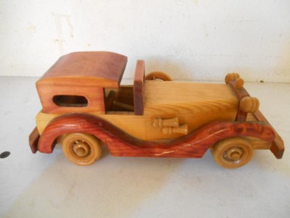 Carro De Madera Tipo Rolls Royce Hecho A Mano