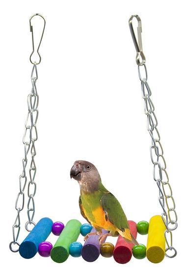 Papagaio Pendurado Cor Balanço Cadeias De Madeira Ponte Stan