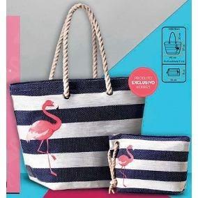 Kit Bolsa + Necessaire Flamingo Korres Avon