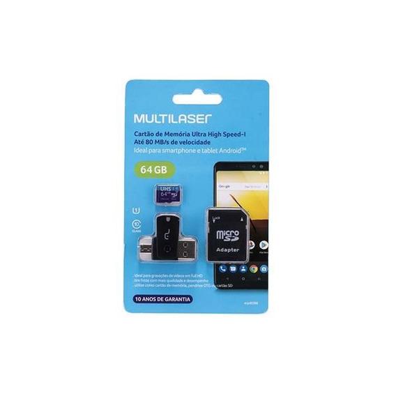 Adaptador Dual Para Celular E Usb Com Sd 64gb Classe 10