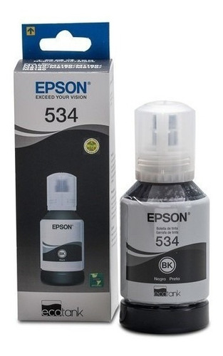 Botella De Tinta Epson Negro T534