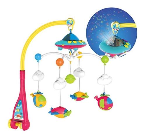 Imagen 1 de 10 de  Movil Cunero Musical  Bebe Proyector Con Luz Y Sonidos !!!