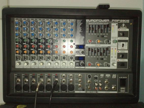 Mesa Amplificada Behringer Europower Pmp-1280s - 1200wrms