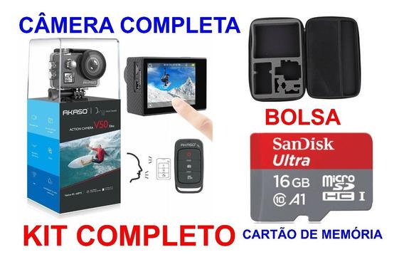 Camera Akaso V50 Elite Ultra Hd 4k/60fps 20mp Action+ Sd 16g