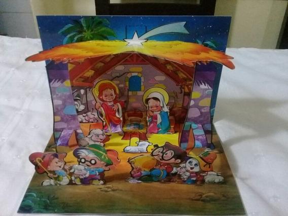 Postal Tarjeta De Anteojito, Feliz Navidad, Tridimensional.