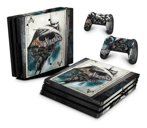 Skin Ps4 Pro Adesivo Playstation 4 Batman Return To Arkham