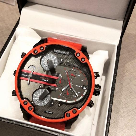 Relógio Pa938 Diesel Dz7370 100% Original Vermelho + Caixa