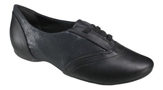 Sapato Comfortflex Oxford 16-94305 - Preto