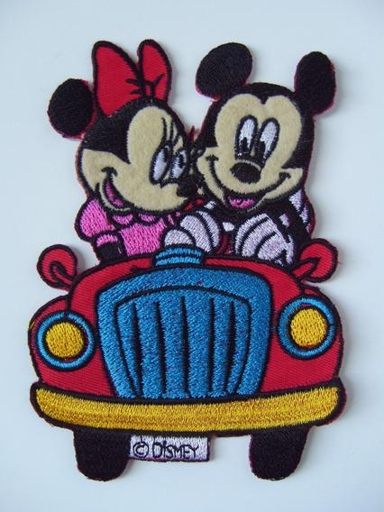 Parche Bordado Mickey Y Minnie Auto