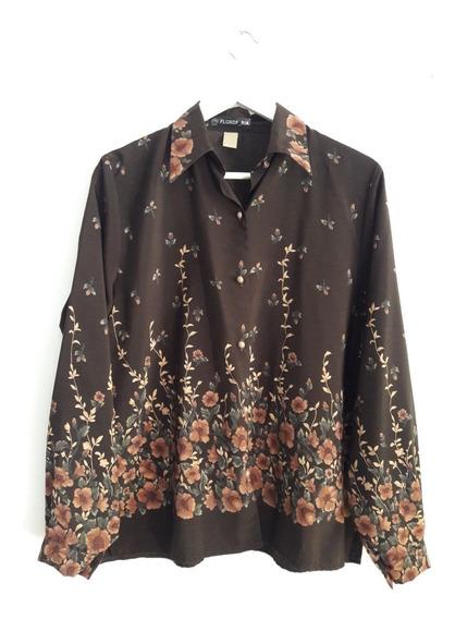Camisa Vintage Floreada Talle Xl