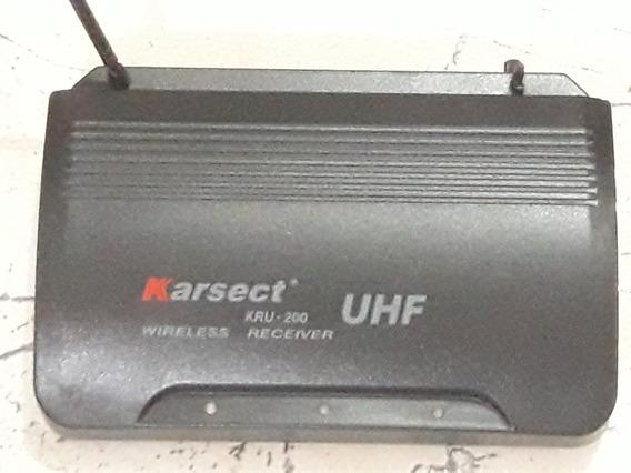 Receiver Para Microfone Karsect Meu 200 Uhf Wireless S/teste