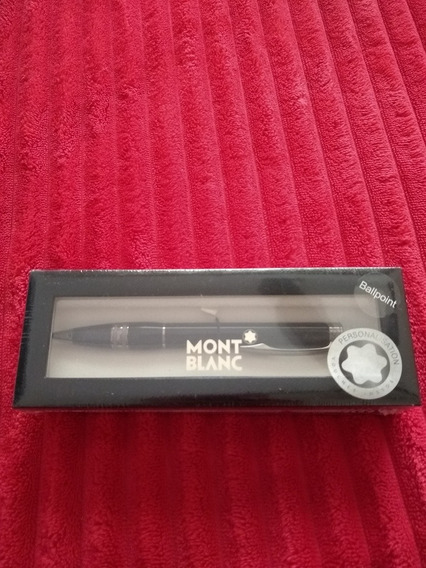Mon Blanc Starwalker Midnight Black Resin Ballpoint Pen