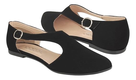 Oxfords Casuales Stylo Para Mujer Suede Negro 151