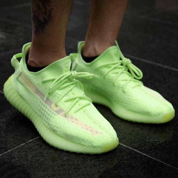 Tênis adidas Yeezy Boost 350 V2 Verde Limão Lançamento