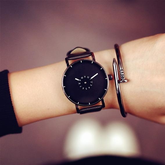 Relógio Minimalista - Ponteiros Branco