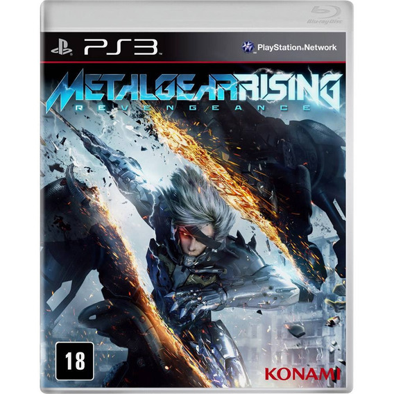 Metal Gear Rising Game Ps 3 Playstation Blu-ray Lacrado Novo