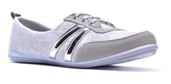 Calzado Zapato Tenis Casual Flat Dama Mujer Moda Comodo Tela