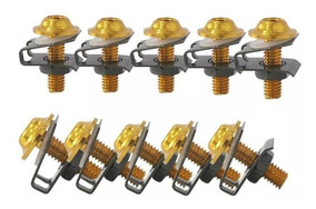 Kit Parafuso Carenagem 6mm Dourado Universal