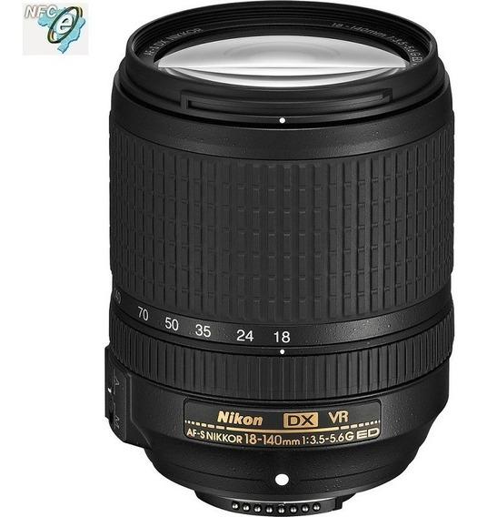 Lente Nikon 18-140mm Af-s Dx F/3.5-5.6g Ed Vr Nota Fiscal