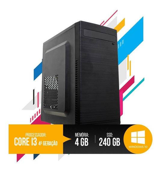 Pc Intel Core I3 4ª Geração 4gb Ram, Hd Ssd 240gb Promoção!!