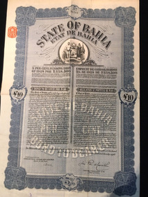 Apólice State Of Bahia 1928 Plano A Decreto Lei 6019 - 1943