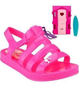 Sandália Inf Linha Boneca Barbie Dreamhouse Grendene Rosa