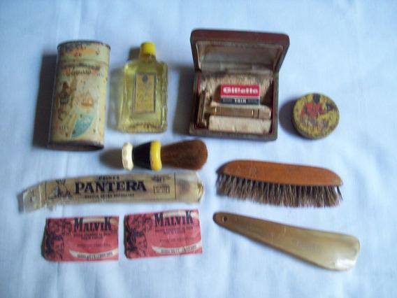 Antiguo Lote De 10 Productos De Tocador Para Hombres