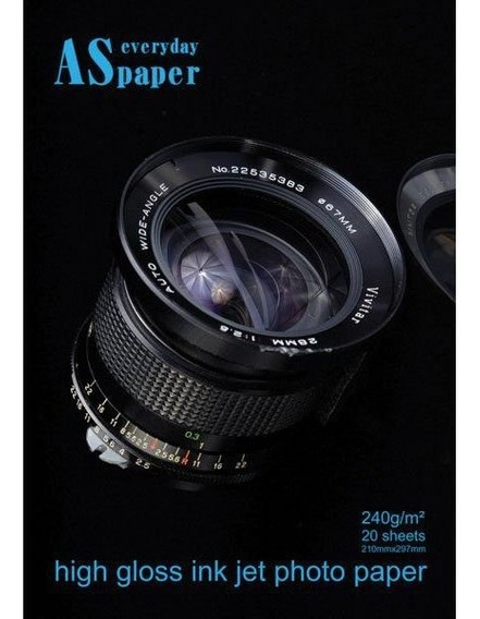 Papel Fotografico Inkjet A4 High Glossy Ever 240g Pct.c/20