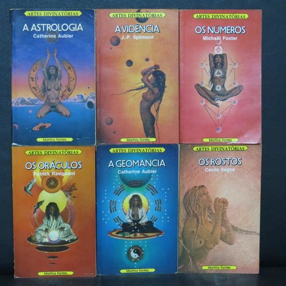 Coleção Artes Divinatórias 6 Volumes Astrologia Magia Vidênc