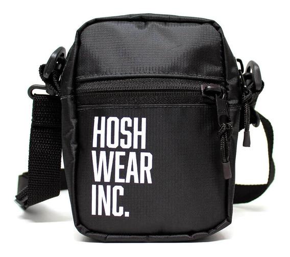 Mini Shoulder Bag Preta Hoshwear Com Tecido Impermeável