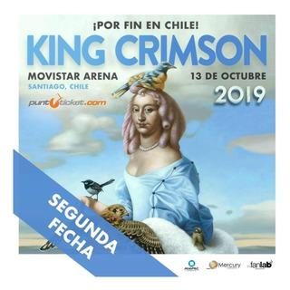Entradas King Crimson / Domingo13. Platea Alta Schizoid