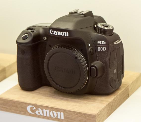 Câmera Canon Nova 80d Corpo E Acess Origin + Nf-e + Garantia