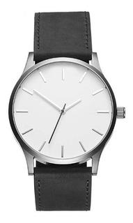 Reloj De Hombre Elegante Negro / Plateado Envio Gratis