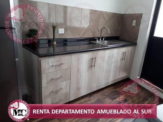 Departamento Amueblado En Renta Al Sur En Aguascalientes