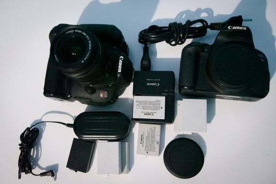 02 Canon T5i + 06 Baterias + Acessórios + Grip + Lente Brind