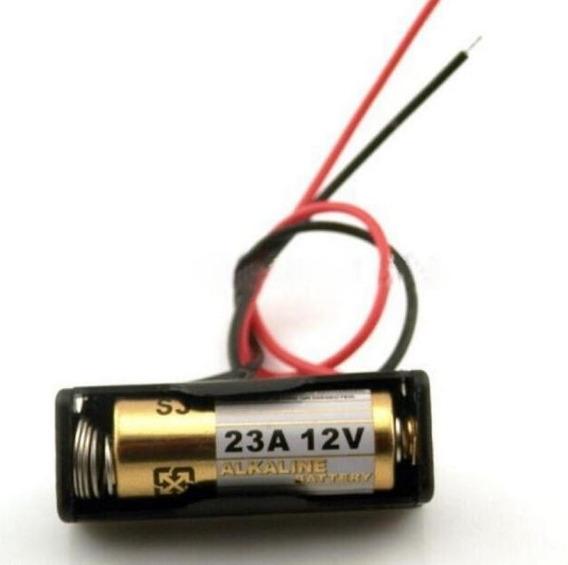 Case Para Bateria A23 12v C/ Fio Para Pilha Lra23 10 Unid