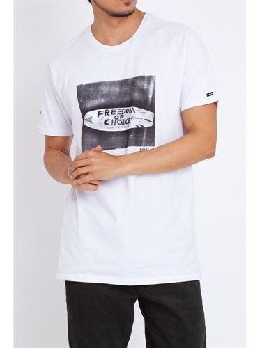 Camiseta Rvca Freedom Of Choice Va Rv01a0231 Branco