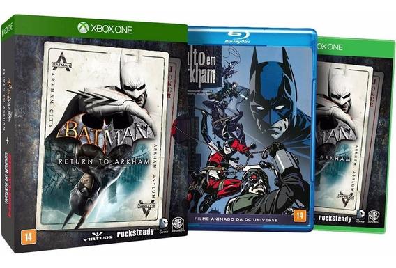 Game Xbox One Batman Return To Arkham + Filme Brinde