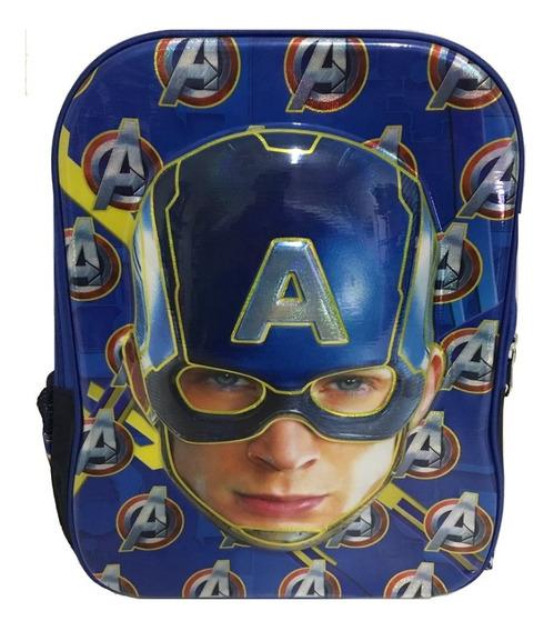 Mochila Escolar Infantil Personagens Capitão America