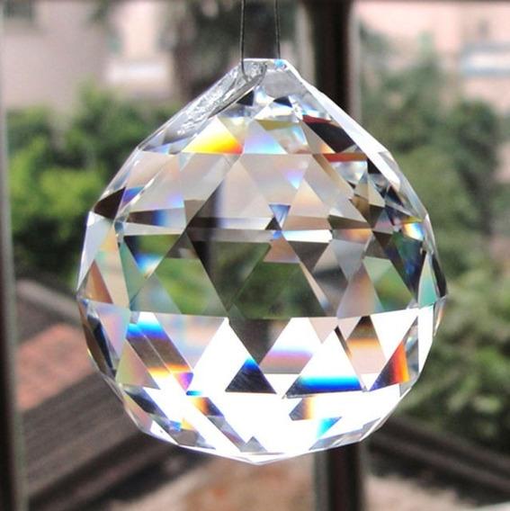 Bola De Cristal Facetada 40mm