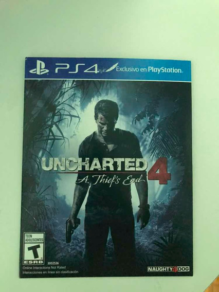 Jogo Ps4/playstation 4 Uncharted 4