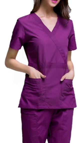 Uniforme Quirúrgico Pijama Scrub Elegance Mujer Pack 3