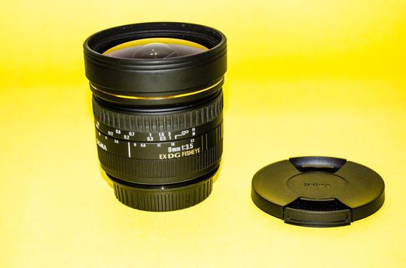 Lente Sigma 8mm Fisheye Para Canon