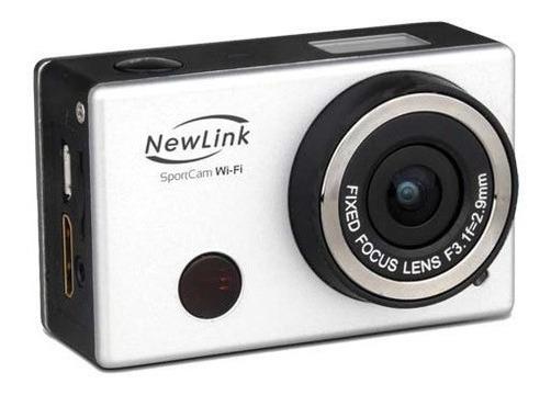 Câmera Esportiva Sport Cam Wi-fi 8 Mp Com Acessórios Newlink
