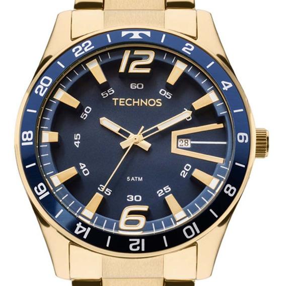 Relógio Technos Racer Masculino 2115laj/4a Dourado Original