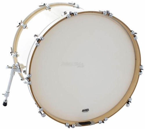 Pele Attack Drumheads 1-ply No Overtone Bass Coated 24¨ Pele