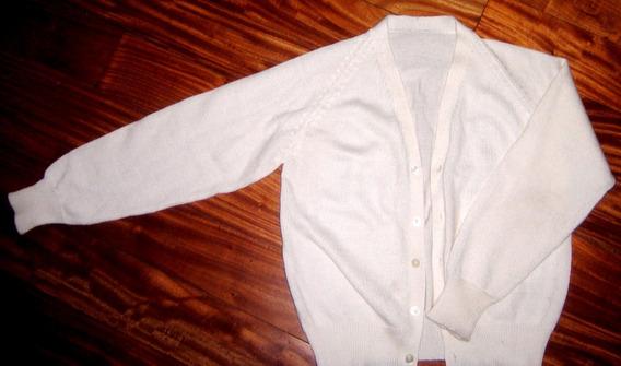 Saco Tejido Sweater Pullover T8/10 Blanco Comunion Zara Caba