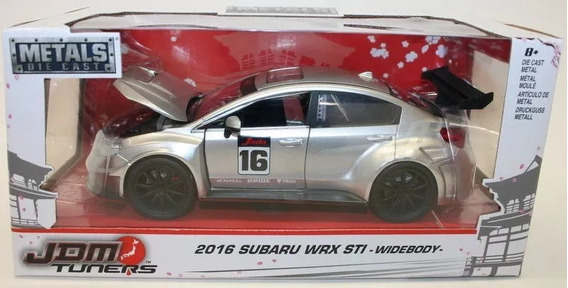 Subaru Wrx Sti 2016 Widebory Jada Toys Jdm Tuners 1:24 Prata